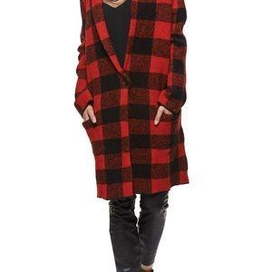 Dex Buffalo plaid sweater jacket